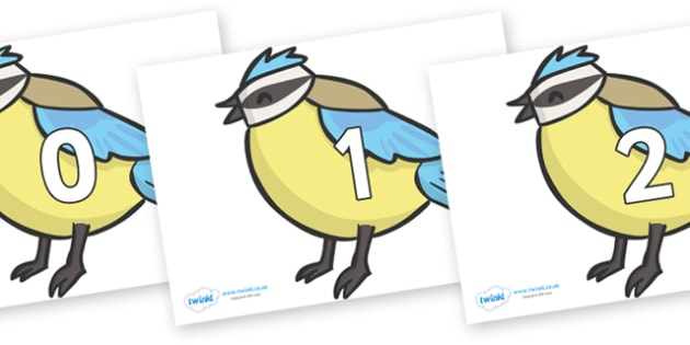 Numbers 0-100 on Birds - 0-100, foundation stage numeracy, Number recognition, Number flashcards, counting, number frieze, Display numbers, number posters