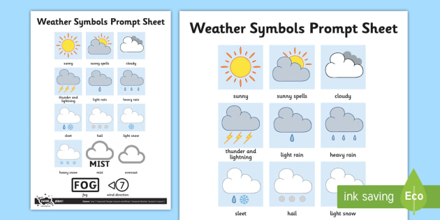 Weather Symbols Worksheet Activity Sheet Weather Weather