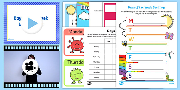 Days Of The Week Year 1 Activity Pack Teacher Made