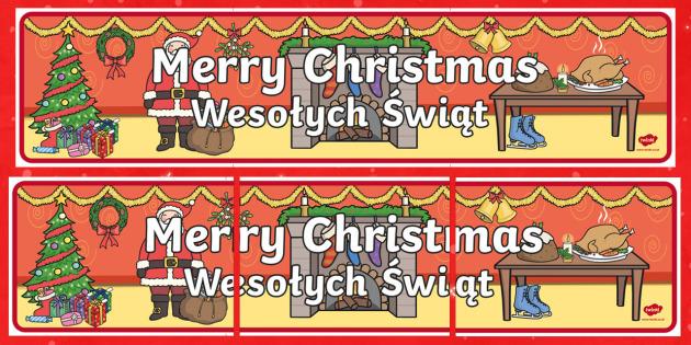 merry christmas display banner polish translation polish merry christmas display banner banner