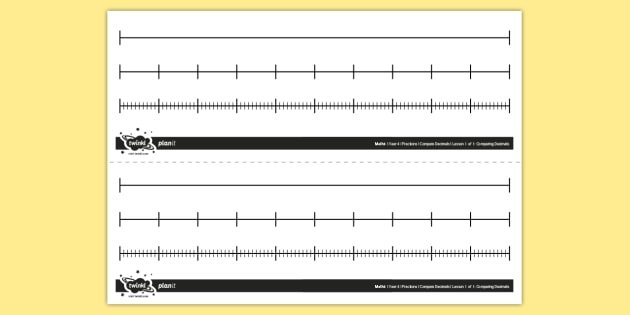 graphic about Printable Blank Number Lines referred to as Editable Blank Selection Strains - Maths Instrument - Twinkl