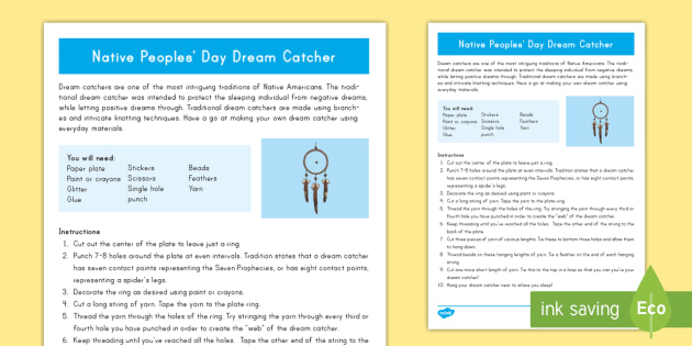 Indigenous Peoples' Day Dreamcatcher Craft - Indigenous Peoples' Day, craft, native, art, dream catcher,