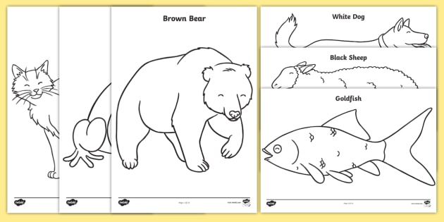 graphic regarding Brown Bear Brown Bear Printable Book referred to as Free of charge! - Colouring Sheets toward Services Training upon Brown Undertake