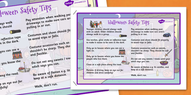 halloween safety tips poster halloween safety tips poster