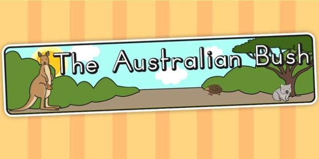 Australian Bush Habitat Display Banner - australia, bush, display