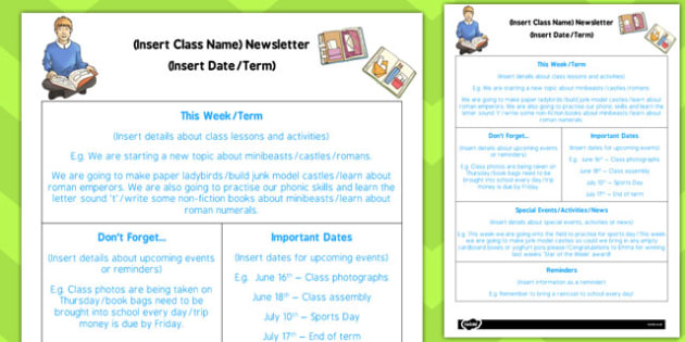 Ks2 Editable Newsletter Template Ks2 Editable Newsletter