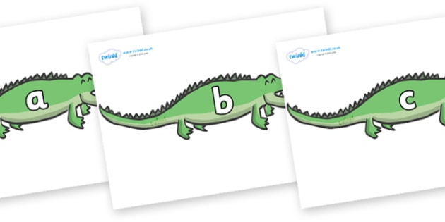 Phase 2 Phonemes on Crocodiles - Phonemes, phoneme, Phase 2, Phase two, Foundation, Literacy, Letters and Sounds, DfES, display
