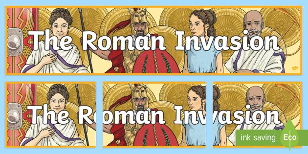 The Roman Invasion Display Banner - roman, display banner, banner