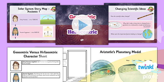 Science: Earth and Space: Geocentric Vs Heliocentric Year 5 Lesson Pack 3