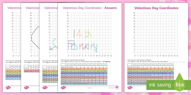 LKS2 Valentines Day Coordinates Worksheet / Worksheets ...