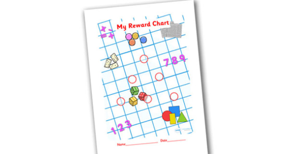 Numeracy Themed Sticker Reward Chart 15mm - reward chart, sticker chart, sticker reward chart, numeracy reward chart, numeracy sticker chart, 15mm chart