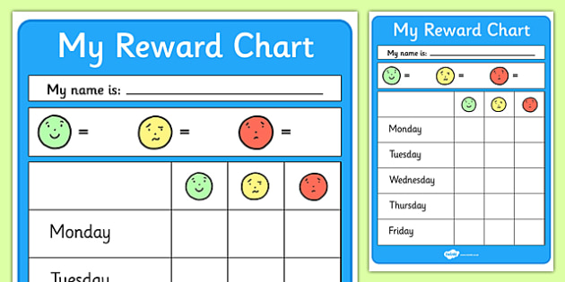Editable Reward Chart - Reward Chart, School reward, Behaviour