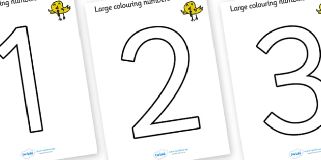 Colouring Numbers (0-9) - education, home school, kids, free, fun