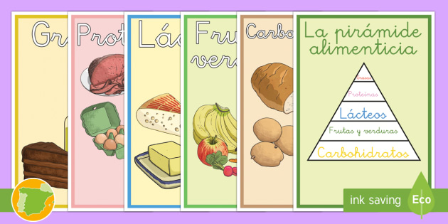 La pirámide alimenticia - comer sano, comida sana, comer saludable, comida saludable, fruta, verdura, dieta saludable, dieta s