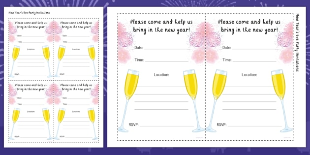 new new years eve party invitations new year celebration party