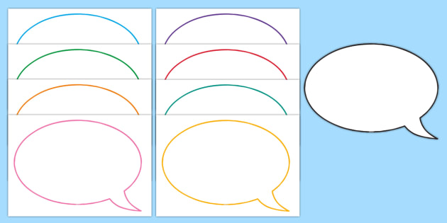 photo relating to Printable Speech Bubbles referred to as Editable Speech Bubble Templates - Simple Products