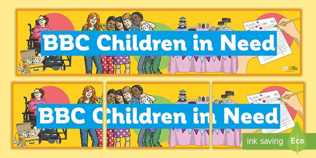 KS2 BBC Children in Need Display Banner