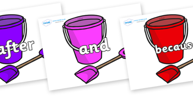 Connectives on Spade and Buckets - Connectives, VCOP, connective resources, connectives display words, connective displays