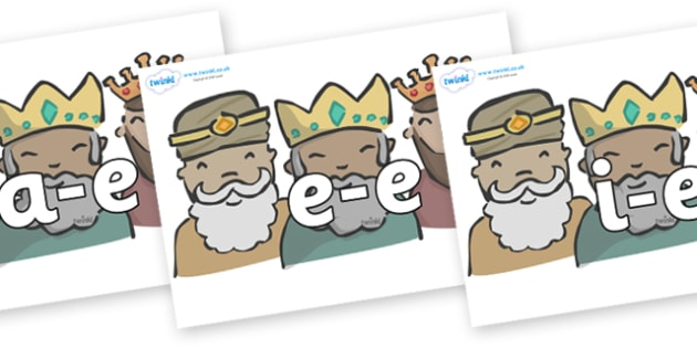 Modifying E Letters on Three Kings - Modifying E, letters, modify, Phase 5, Phase five, alternative spellings for phonemes, DfES letters and Sounds