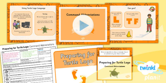 Computing: Preparing for Turtle Logo: Command Abbreviations Year 2 Lesson Pack 5