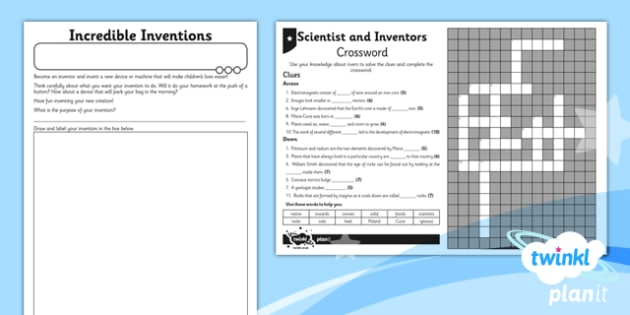 Science: Scientists and Inventors Year 3 Unit Home Learning Tasks