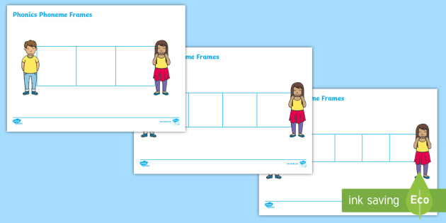 Phoneme Writing Frames - letters and sounds, phase, write
