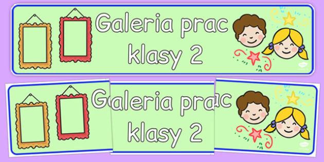 Banner na gazetkę Galeria prac klasy 2 po polsku - początkowe