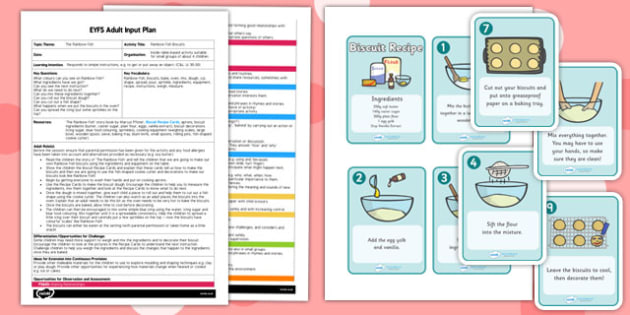 Biscuits EYFS Adult Input Plan and Resource Pack to Support Teaching on The Rainbow Fish