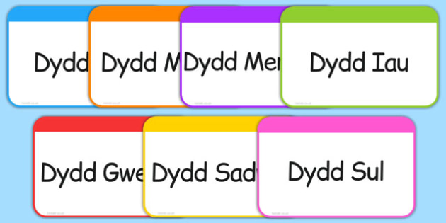 Days of the Week Flashcards Cymraeg - welsh, cymraeg, days, week, flashcards, flash cards