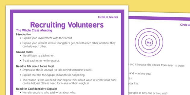 Circle of Friends Recruiting Volunteers - circle of friends, recruiting, volunteers