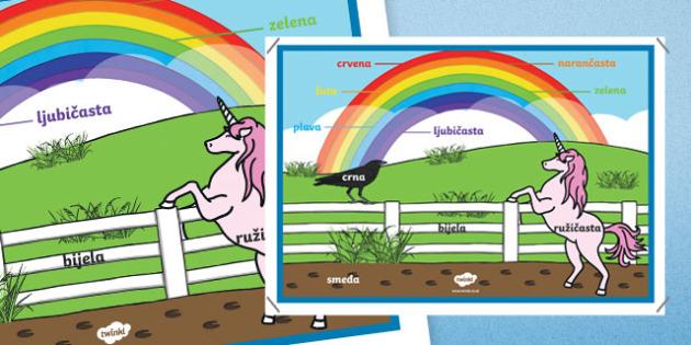 Póster - Los colores del arco iris - croata
