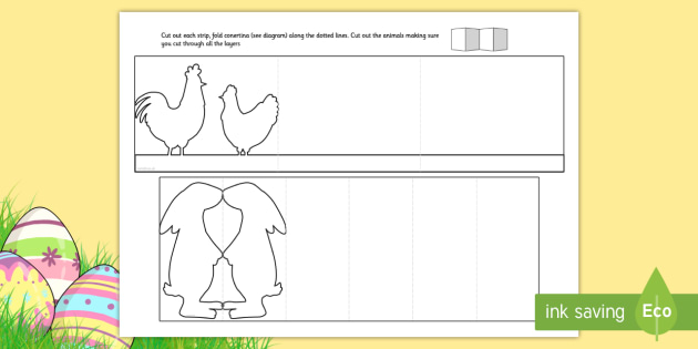 Easter Cutting Skills Paper Chain Craft - easter, cutting skills