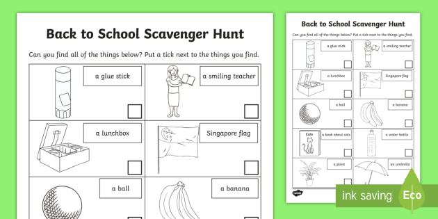 photograph regarding Classroom Scavenger Hunt Printable named Back again in the direction of College or university Scavenger Hunt Worksheet / Worksheet