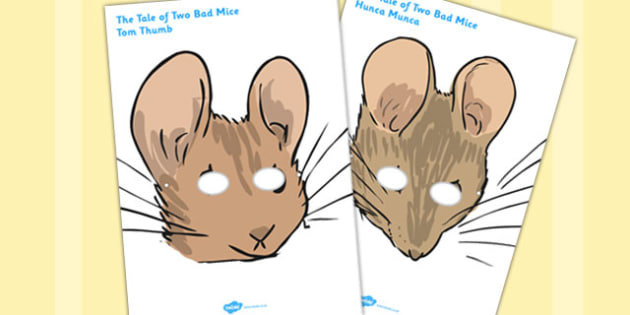 The Tale of Two Bad Mice Roleplay Masks - two bad mice, role-play, masks
