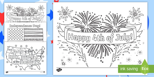 Independence Day Coloring Pages - 4th Of July Resources