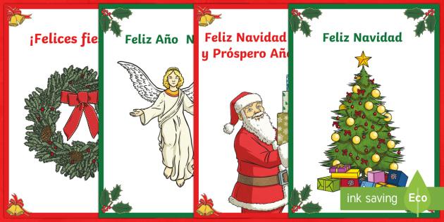 Merry Christmas Card Spanish
