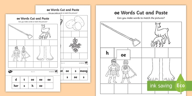 Oe Sound Cut And Stick Worksheet Teacher Made