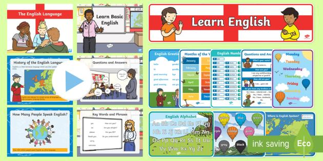 English Language Pack - Language, English, vocabulary, key words, phrases, basic