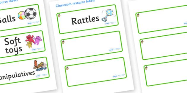 Acorn Themed Editable Additional Resource Labels - Themed Label template, Resource Label, Name Labels, Editable Labels, Drawer Labels, KS1 Labels, Foundation Labels, Foundation Stage Labels, Teaching Labels, Resource Labels, Tray Labels, Printable la