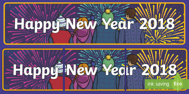 happy new year 2018 display banner new year new years new years eve