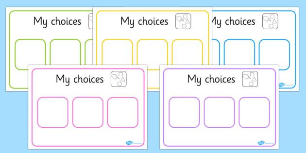 FREE! - Choice Board (teacher made)