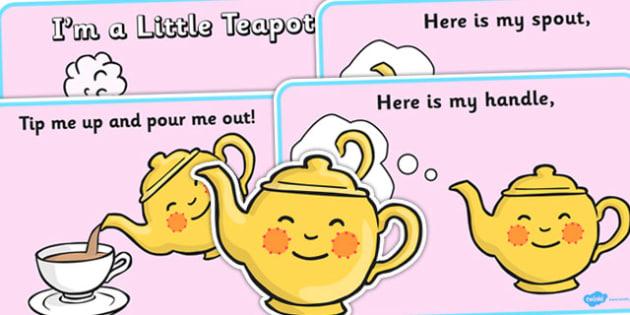 I'm a Little Teapot Sequencing - I'm a Little Teapot, sequencing, nursery rhyme, rhyme, rhyming, nursery rhyme story, nursery rhymes, teapot, tea, I'm a Little Teapot resources
