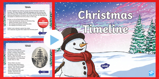 When Was Christmas First Celebrated.Ks2 Christmas Timeline Powerpoint When Was Christmas First