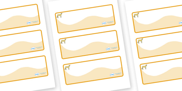 Cheetah Themed Editable Drawer-Peg-Name Labels (Colourful) - Themed Classroom Label Templates, Resource Labels, Name Labels, Editable Labels, Drawer Labels, Coat Peg Labels, Peg Label, KS1 Labels, Foundation Labels, Foundation Stage Labels, Teaching
