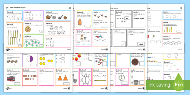 Year 1 Maths Activity Activity Pack - Year 1 Maths Activity Pack -yr ...