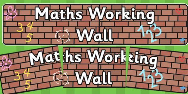 Maths Working Wall Display Banner EYFS - display banner, display