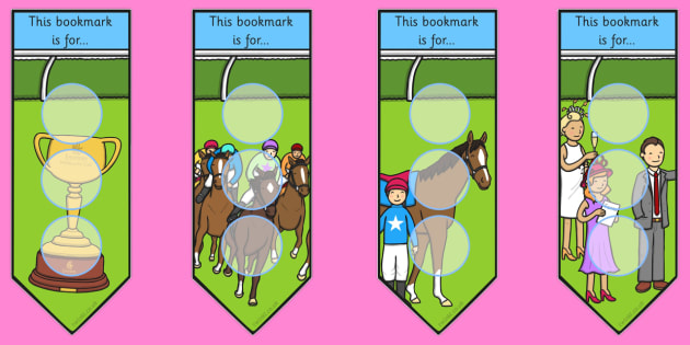 The Melbourne Cup Sticker Reward Bookmarks for Large Stickers - australia, melbourne cup, bookmarks