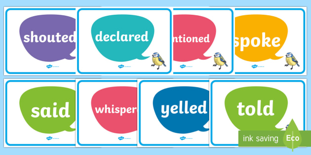 Other Words for Said - other words for said, descriptive words