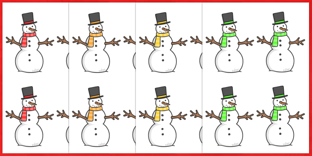 Christmas Snowmen Small Editable  - christmas, snowmen, winter