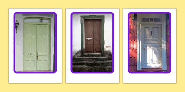 Door Knockers and Doorbells Display Photos - Door, knocker, bell, knock, home, house, Postal Worker